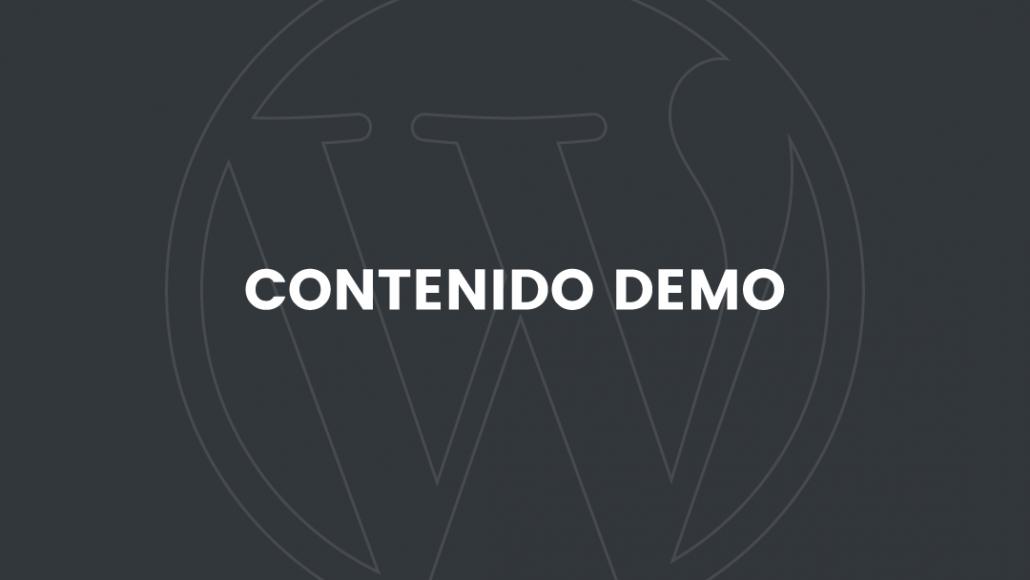 WordPress contenido demo