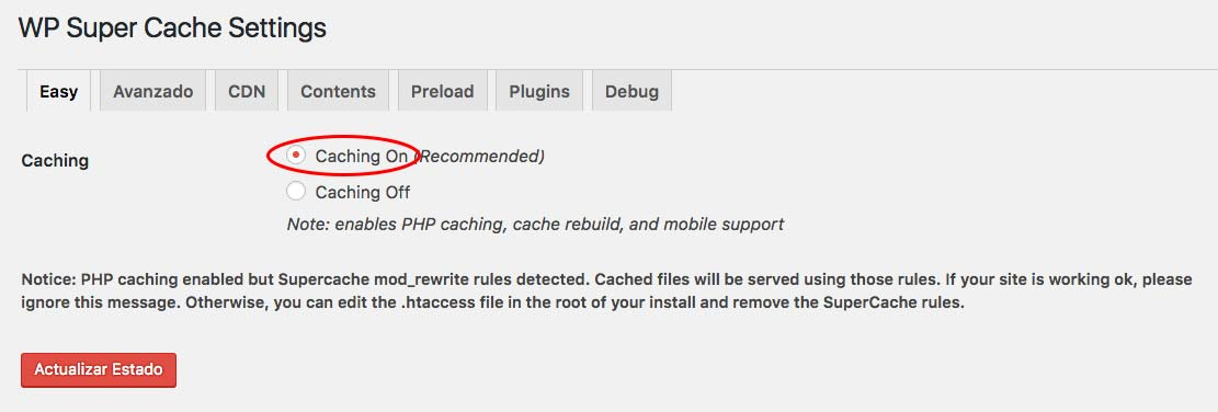 caching-on-wp-super-cache