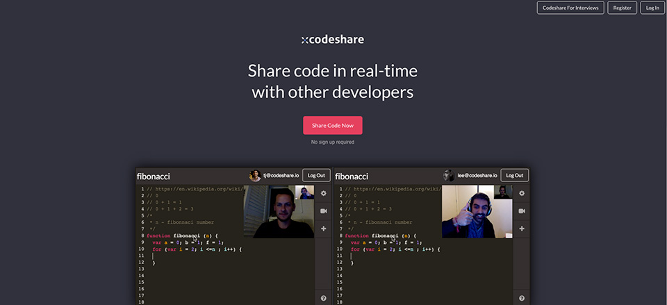codeshare-snippets