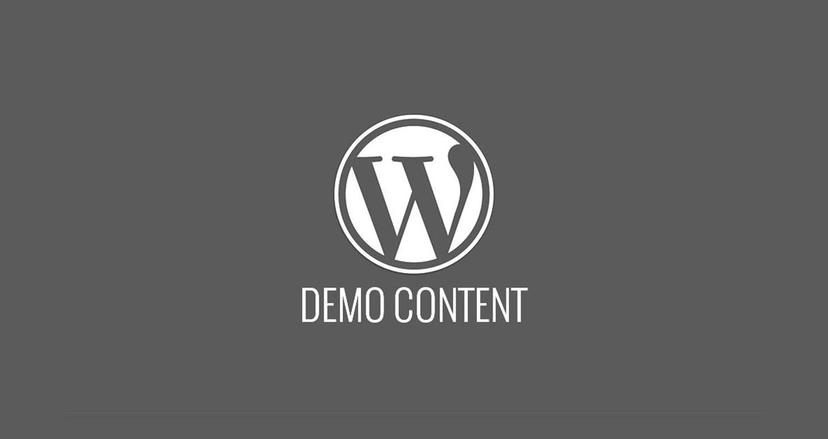 Importar contenido demo en WordPress
