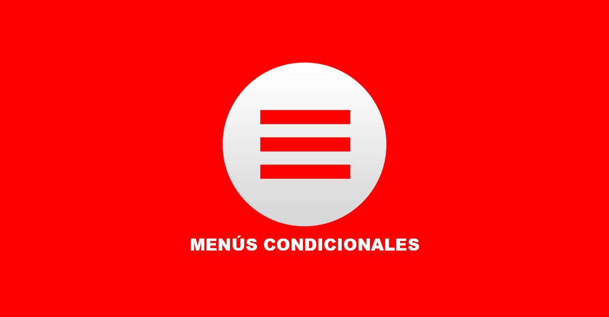 Menús condicionales en wordpress
